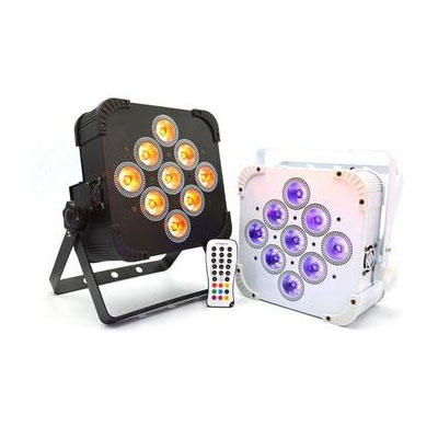 9pcs 18W battery powered led stage  light