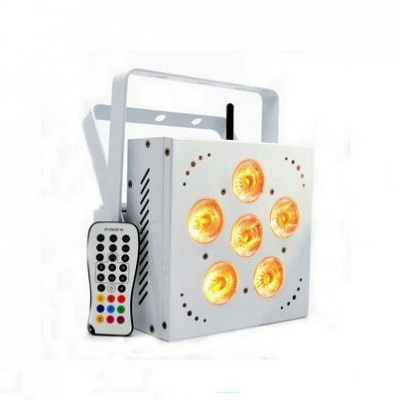wireless battery  powered led uplights 6pcs 15W 5in1 rgbwa stage led mini party light