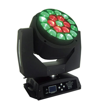 19*15W RGBW LED beam and zoom moving head light